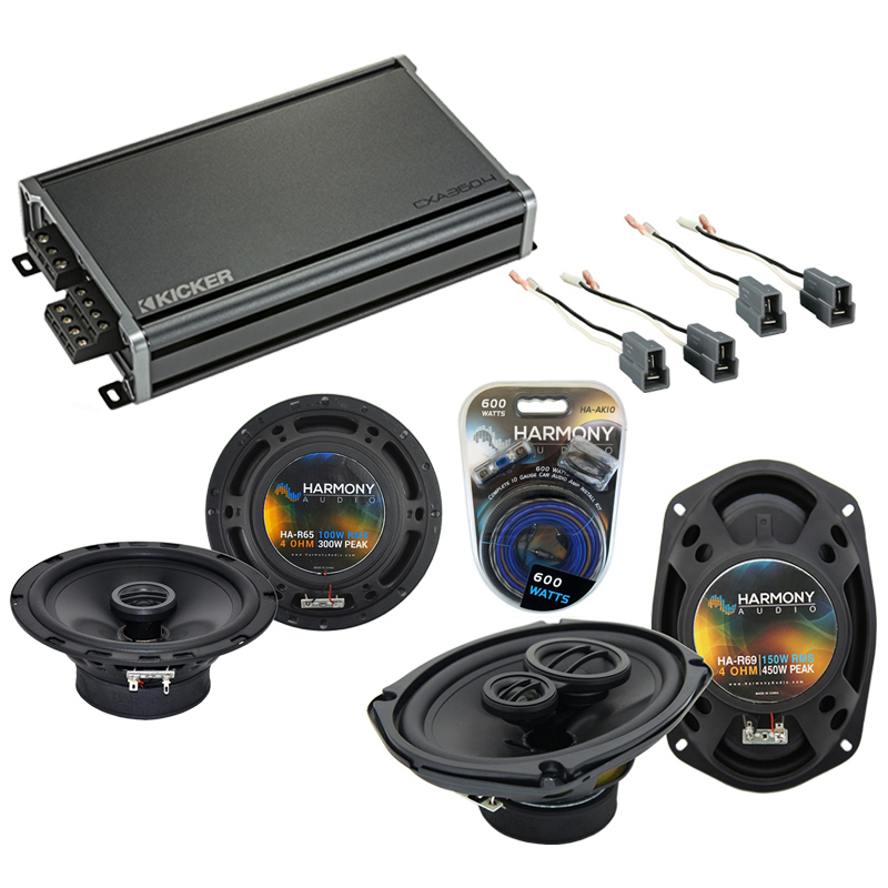 Harmony Audio Compatible With 1995-05 Mitsubishi Eclipse HA-R65 HA-R69 New Factory Speaker Replacement Upgrade Package