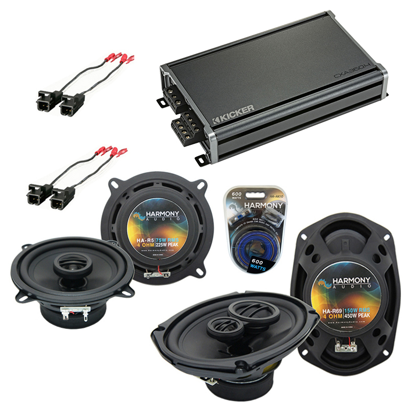 Compatible with Buick Park Avenue 95-96 OEM Speaker Replacement Harmony R46 R69 & CXA300.4 Amp