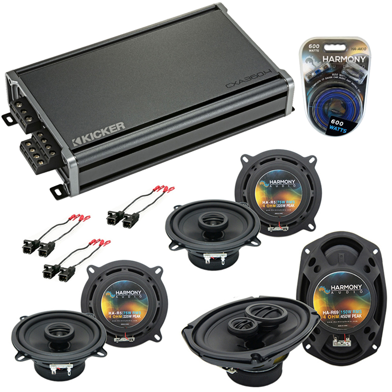 Compatible with Buick Park Avenue 97-05 OEM Speaker Replacement Harmony (2) R5 R69 & CXA360.4 Amp