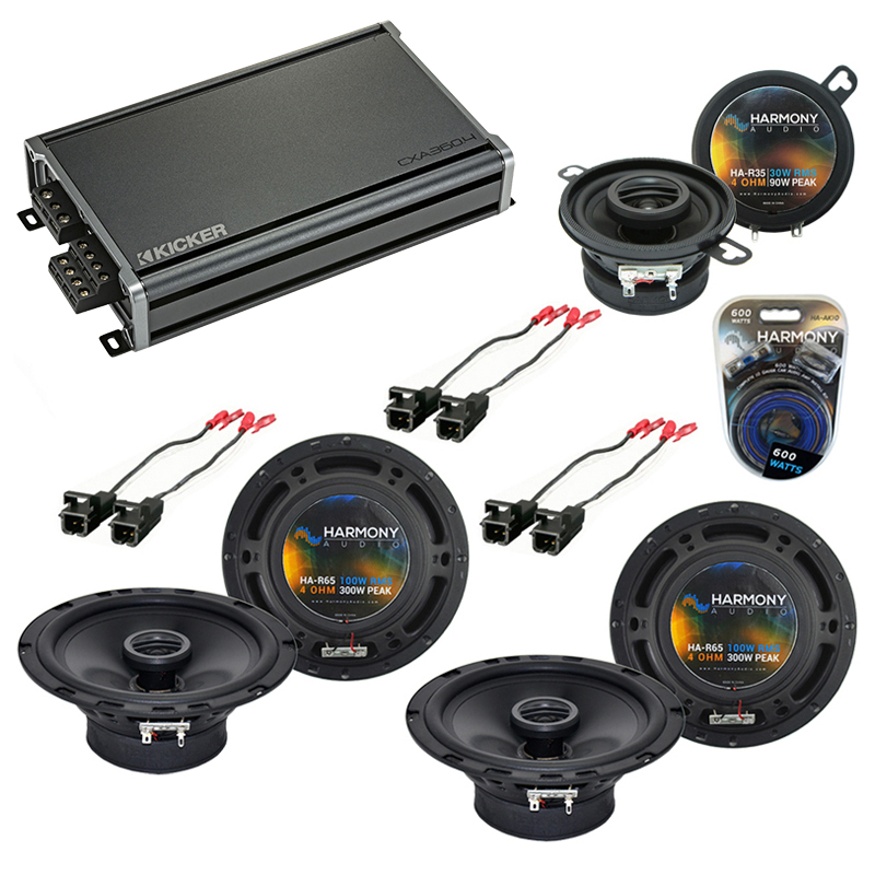 Compatible with Buick Rainier 2004-2007 Factory Speaker Replacement Harmony R65 R35 & CXA300.4 Amp