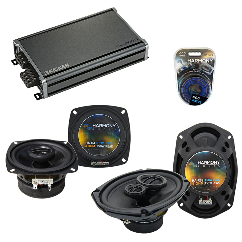 Compatible with Buick Reatta 1988-1989 Factory Speaker Replacement Harmony R4 R69 & CXA300.4 Amp