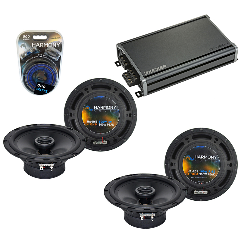 Compatible with Nissan Rogue 2008-2013 Factory Speaker Replacement Harmony (2) R65 & CXA360.4