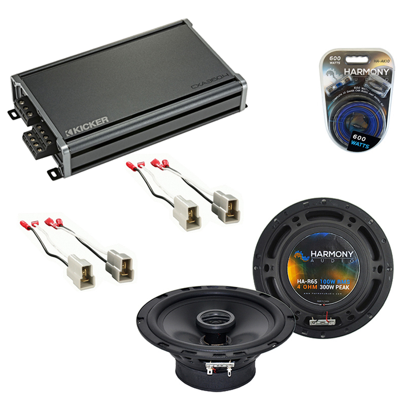 Compatible with Nissan Sentra 1987-1990 Factory Speaker Replacement Harmony (2) R65 & CXA360.4