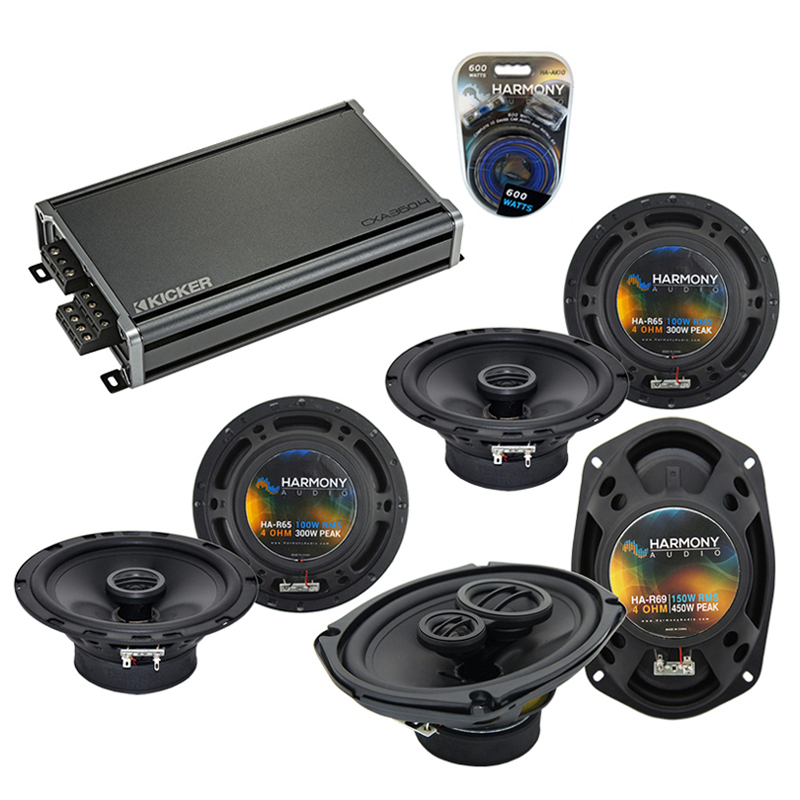 Compatible with Acura RDX 2007-2016 Factory Speaker Replacement Harmony R65 R69 & CXA300.4 Amp