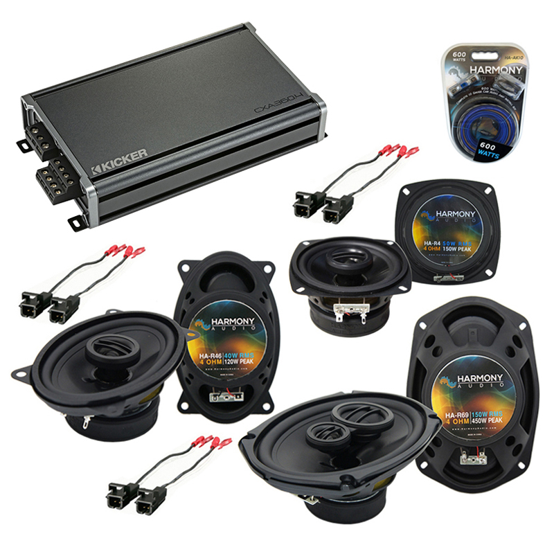 Buick Regal 1988-1994 OEM Speaker Upgrade Harmony Speakers & CXA300.4 Amplifier
