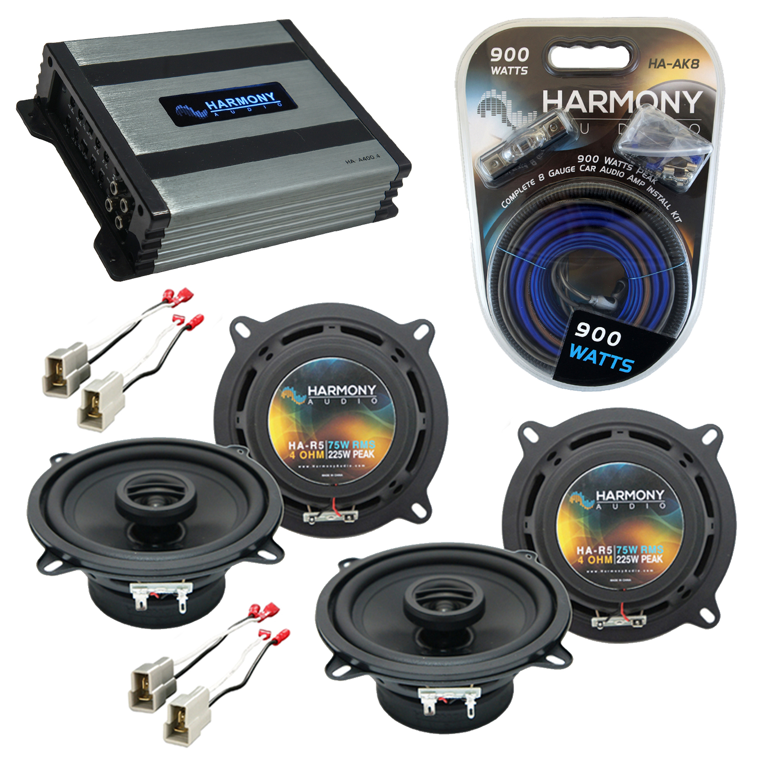 Compatible with Nissan Stanza 1982-1986 Factory Speaker Replacement Harmony (2) R5 & Harmony HA-A400.4