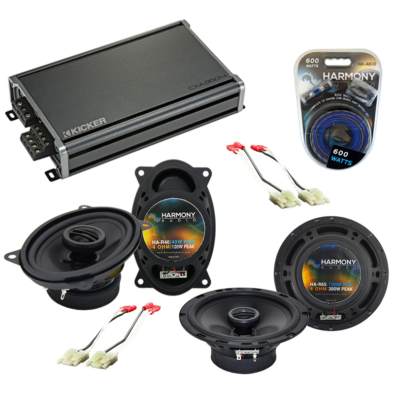 Compatible with Oldsmobile Silhouette APV 1990-1996 OEM Speaker Replacement Harmony & CXA300.4 Amp