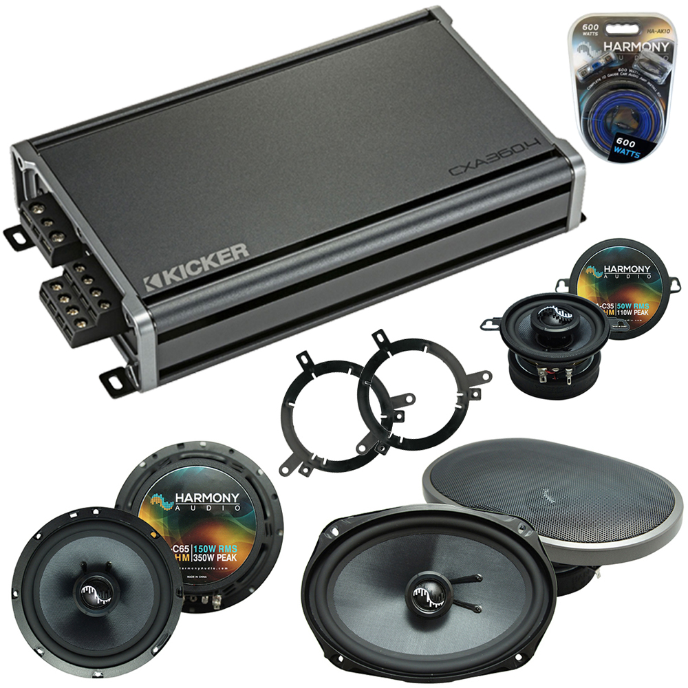 Compatible with Plymouth Breeze 1996-1999 Speakers Replacement Harmony C35 C69 & CXA360.4 Amp