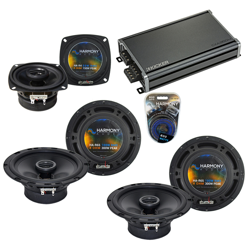 Compatible with Plymouth Laser 1990-1994 OEM Speaker Replacement Harmony R65 R4 & CXA360.4 Amp