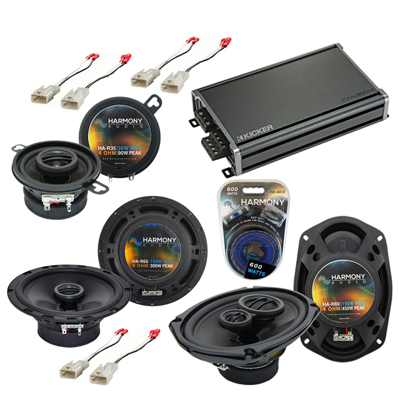 Harmony Audio Compatible with 2000-2001 Plymouth Neon HA-R65 HA-R35 HA-R69 New Factory Speaker Replacement Upgrade Package With CXA360.4 Amplifier