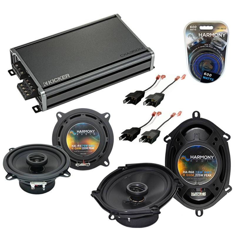 Compatible with Plymouth Sundance 1987-1994 OEM Speaker Replacement Harmony R68 R5 & CXA300.4 Amp