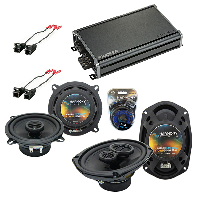 Compatible with Buick Roadmaster 1995-1996 OEM Speaker Replacement Harmony R5 R69 & CXA300.4 Amp