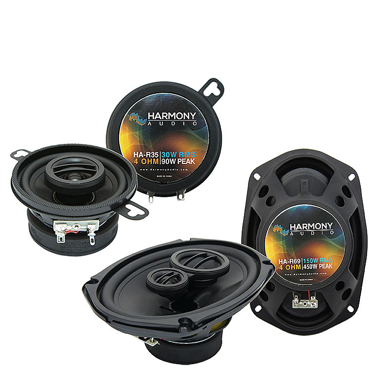 Plymouth Volare 1976-1980 OEM Speaker Upgrade Harmony R35 R69 Package New