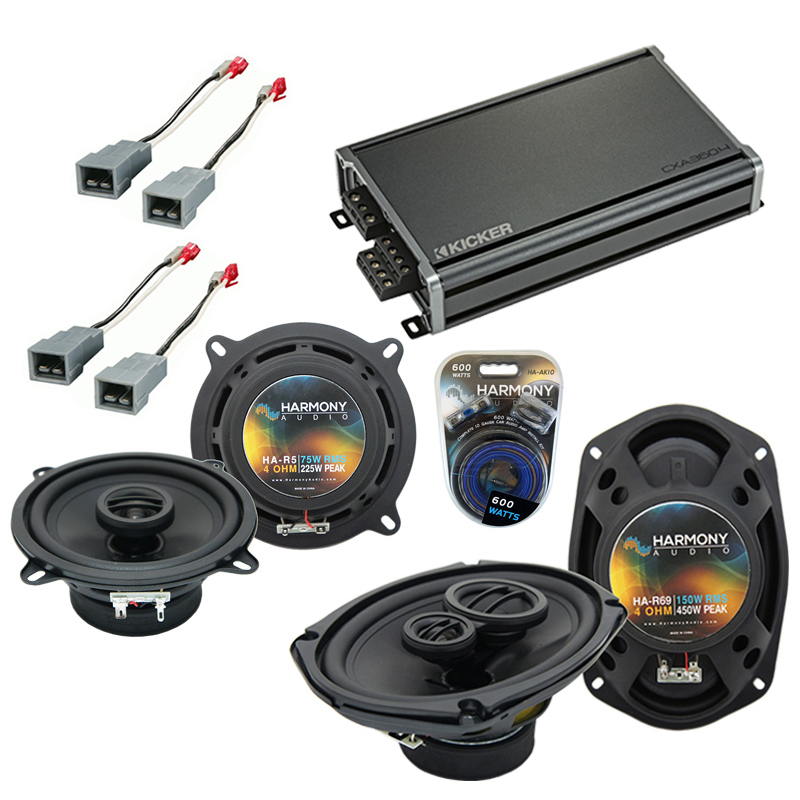 Compatible with Plymouth Voyager 1984-1995 OEM Speaker Replacement Harmony R5 R69 & CXA300.4 Amp