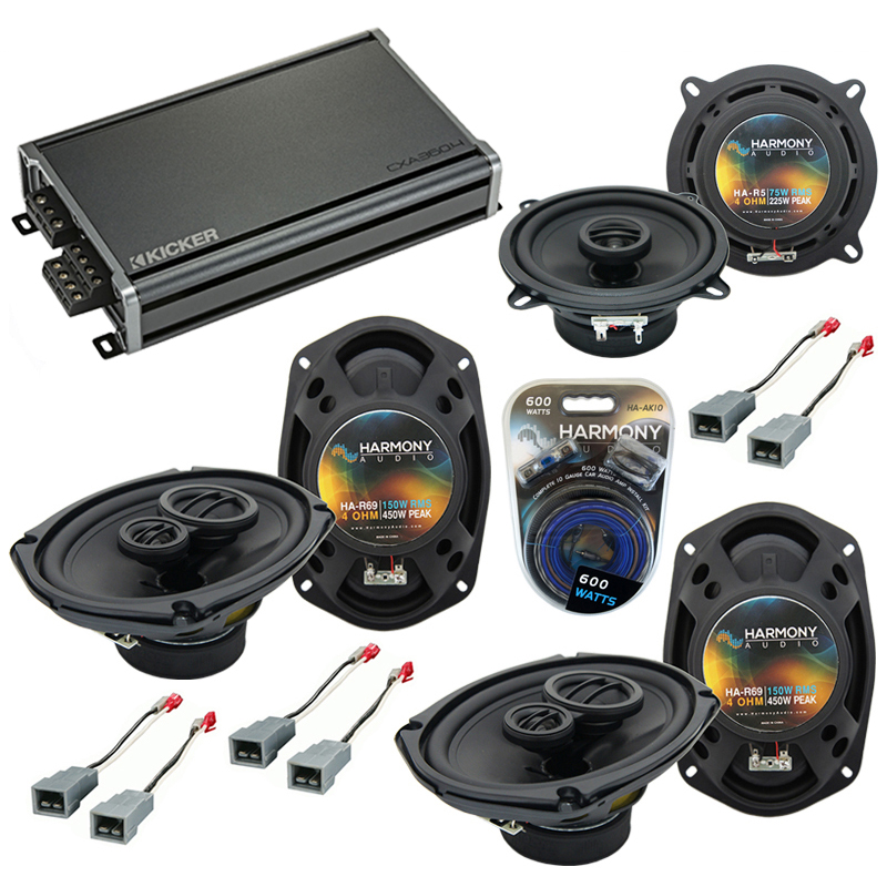 Compatible with Plymouth Voyager 1996-2000 OEM Speaker Replacement Harmony R5 R69 & CXA300.4 Amp