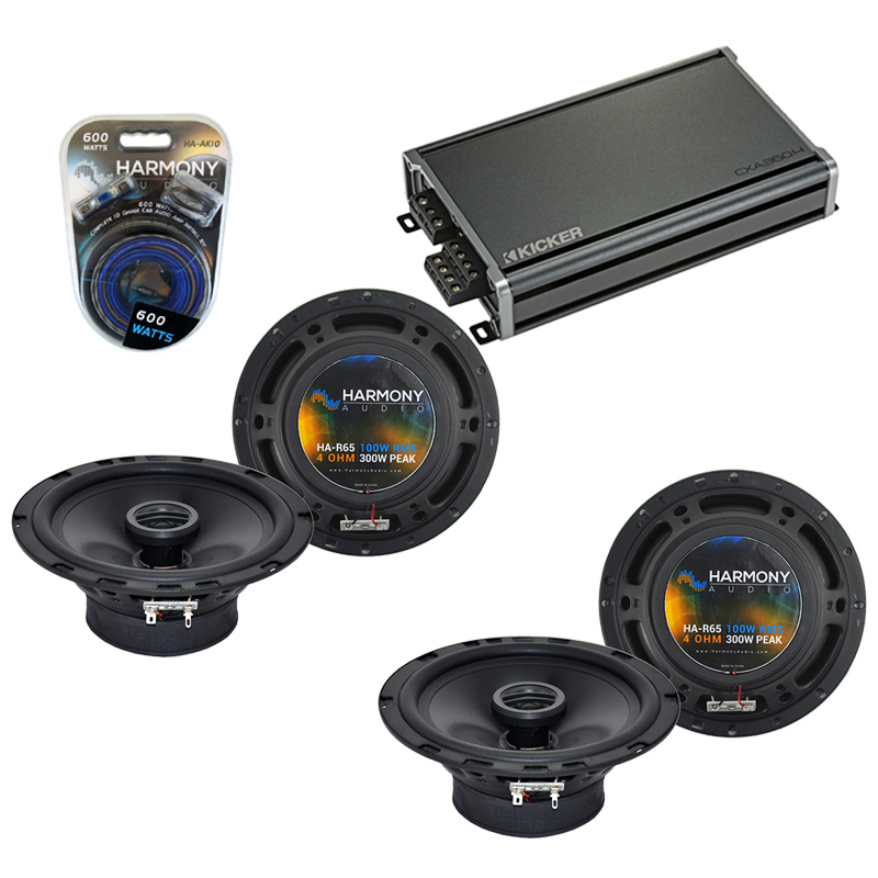 Compatible with Pontiac GTO 2004-2006 Factory Speaker Replacement Harmony (2) R65 & CXA300.4 Amp