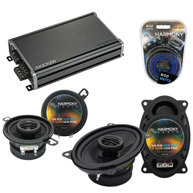 Compatible with Pontiac T-1000 1982-1987 OEM Speaker Replacement Harmony R46 R35 & CXA300.4 Amp