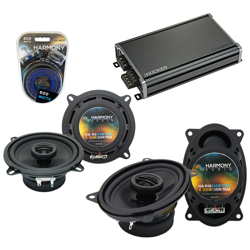 Compatible with Porsche 911 1973-1997 Factory Speaker Replacement Harmony R46 R5 & CXA300.4 Amp