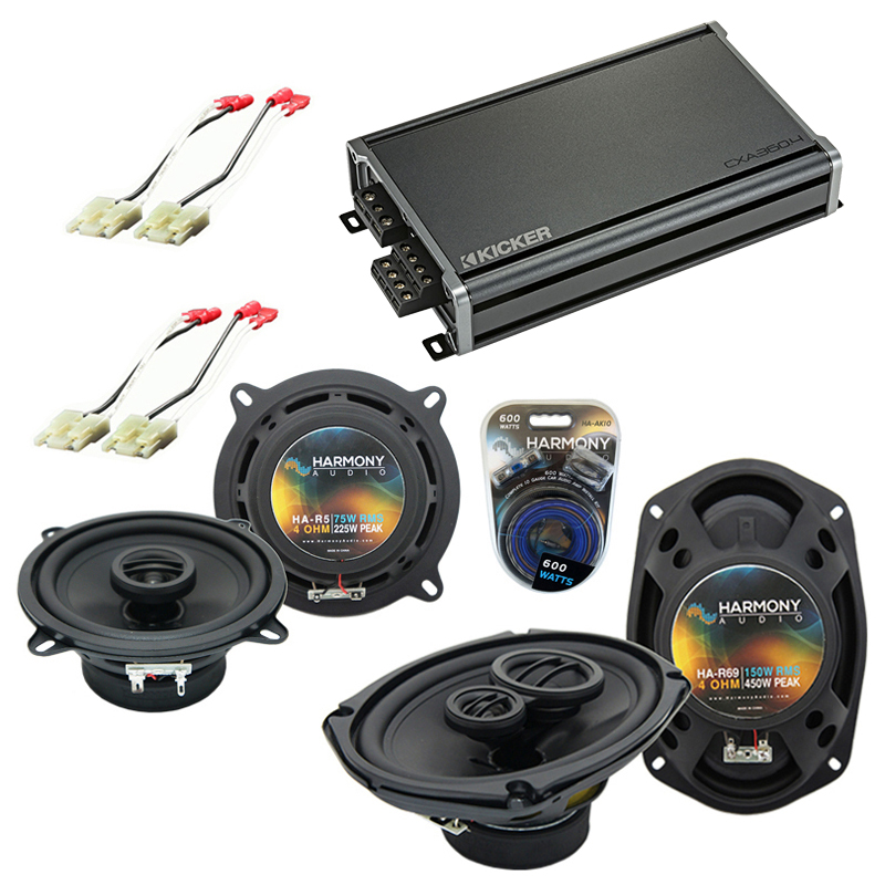 Compatible with Cadillac Brougham 1987-1992 OEM Speaker Replacement Harmony R5 R69 & CXA300.4 Amp