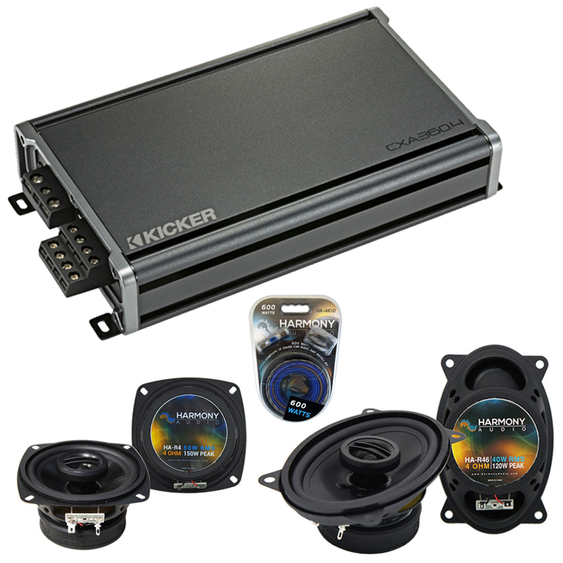 Compatible with Porsche 968 1992-1996 Factory Speaker Replacement Harmony R4 R46 & CXA300.4 Amp
