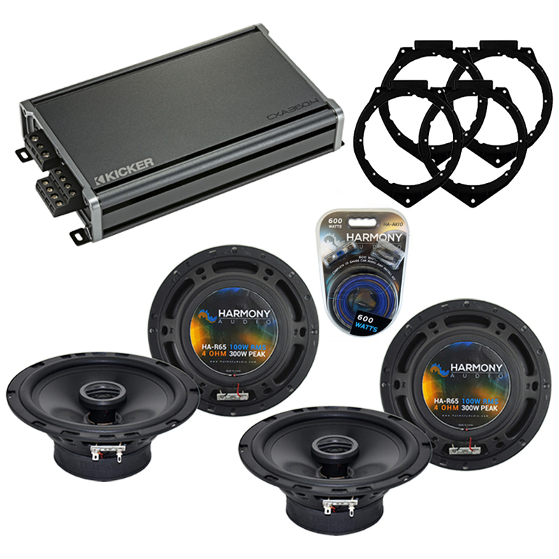 Compatible with Saturn Outlook 2007-2009 OEM Speaker Replacement Harmony (2) R65 & CXA300.4 Amp