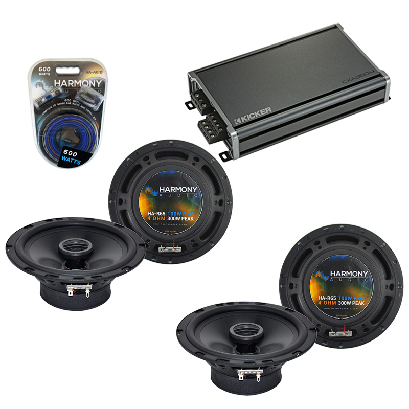 Compatible with Subaru Outback Sport 2005-2006 Speaker Replacement Harmony 2 R65 & CXA300.4 Amp