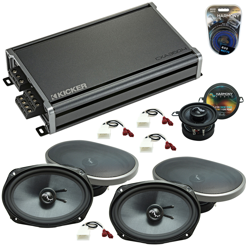 Compatible with Toyota Camry 2002-2006 OEM Speakers Replacement Harmony (2) C69 C35 & CXA360.4