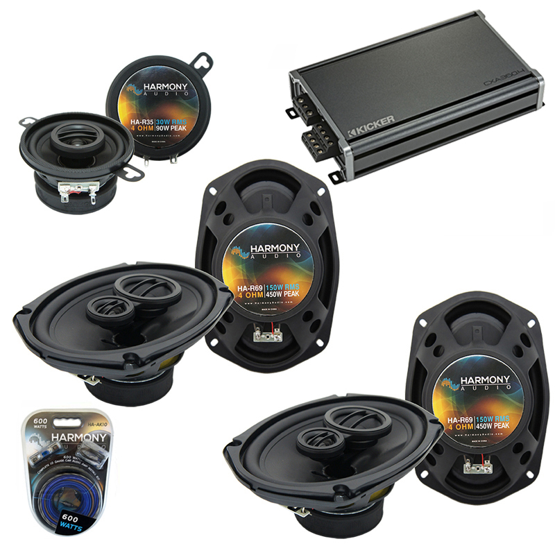 Compatible with Toyota Camry 2007-2011 OEM Speaker Replacement Harmony (2) R69 R35 & CXA300.4 Amp