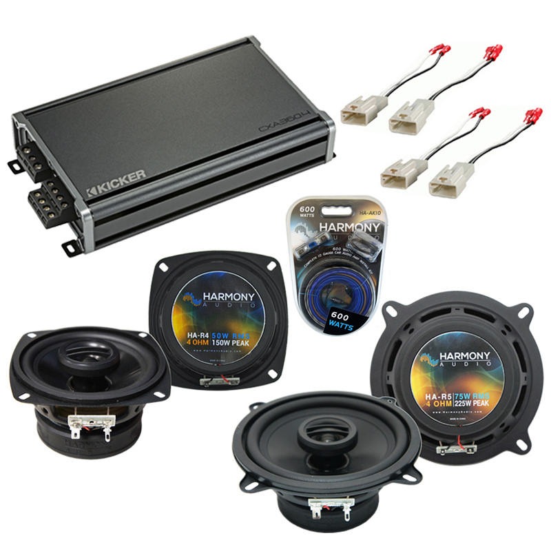 Compatible with Toyota Corolla 4 dr/Wagon 1993 Factory Speaker Replacement R4 R5 & CXA300.4 Amp