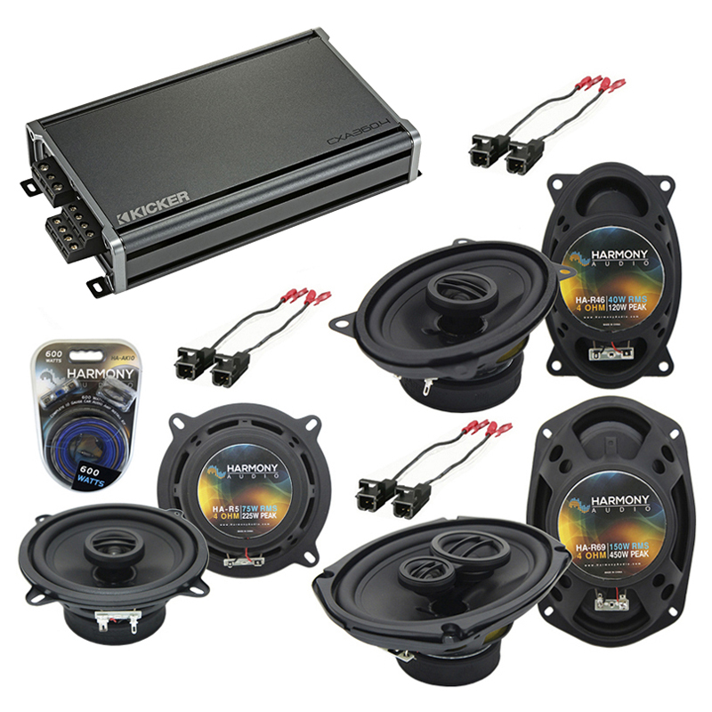 Compatible with Cadillac DeVille Concours 1994-1995 OEM Speaker Replacement Harmony & CXA300.4 Amp
