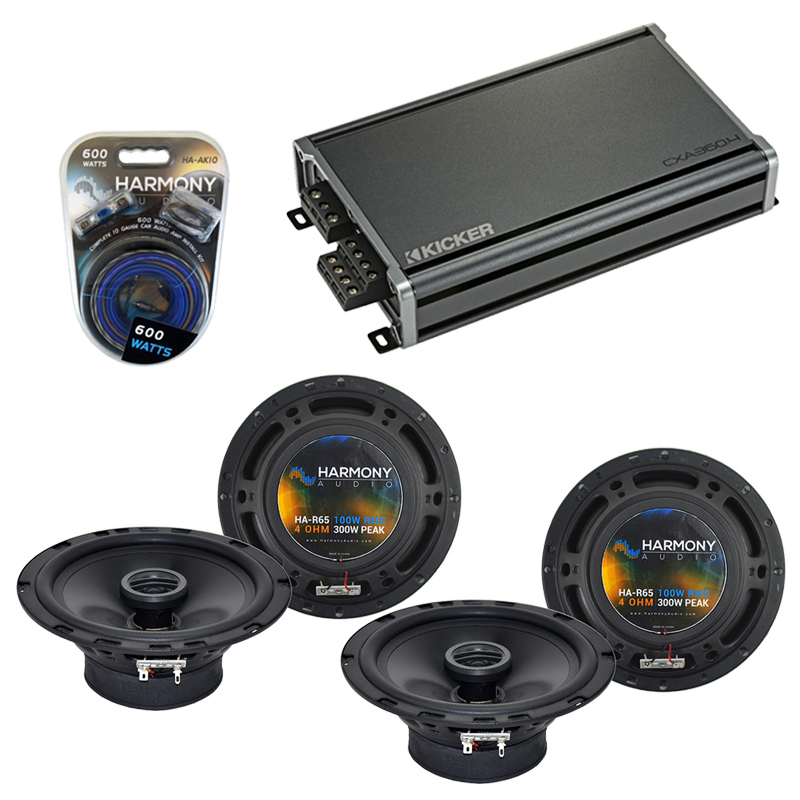 Compatible with Toyota MR2 Spyder 2000-2003 OEM Speaker Replacement Harmony (2) R65 & CXA300.4 Amp