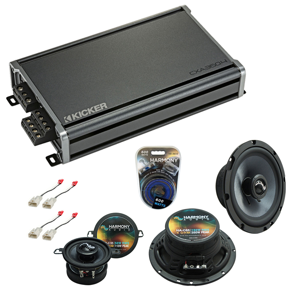 Compatible with Toyota MR2 1991-1995 Factory Speakers Replacement Harmony C65 C35 & CXA360.4 Amp