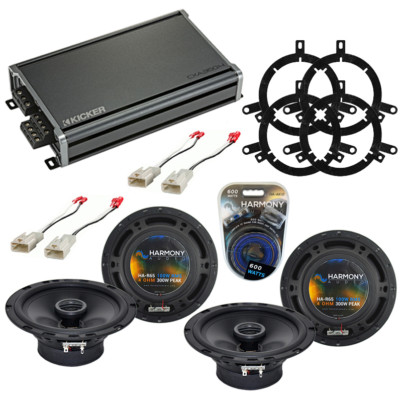 Compatible with Toyota Sequoia 2003-2007 Factory Speaker Replacement Harmony (2) R65 & CXA300.4 Amp