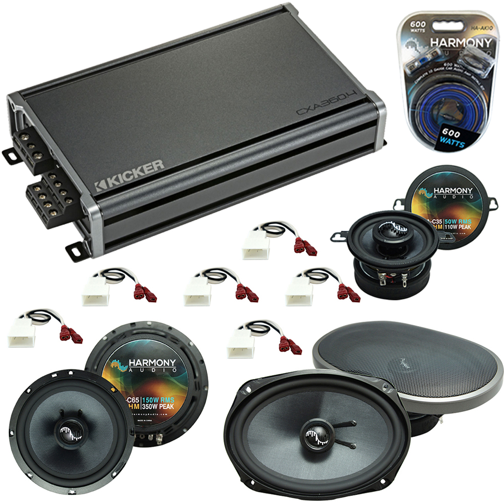 Compatible with Toyota Tacoma 2005-2015 Factory Replacement Harmony Premium Speakers & CXA300.4