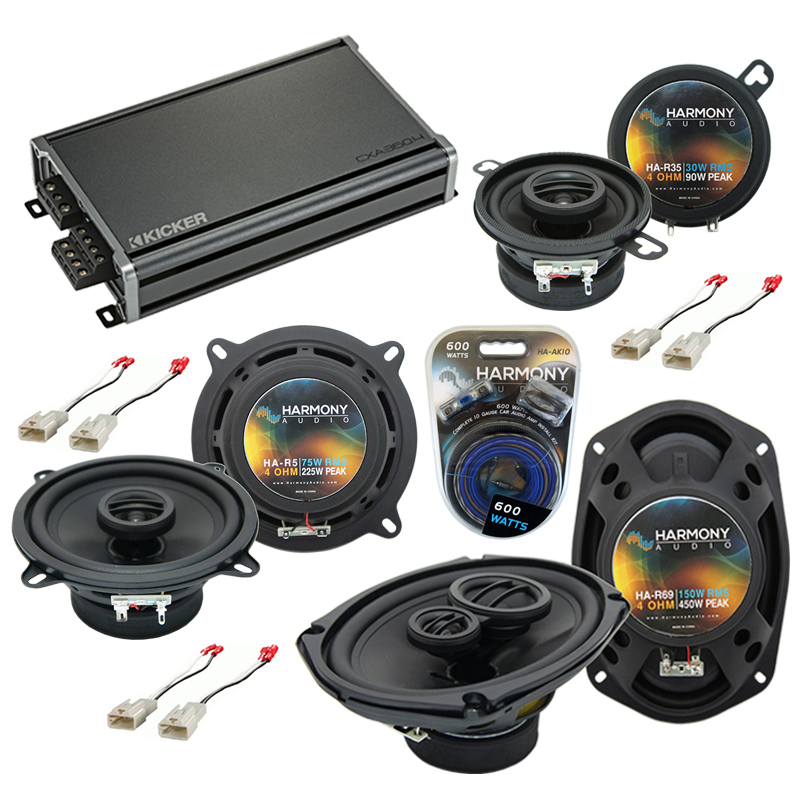 Compatible with Toyota Tacoma 2005-2015 Factory Speaker Replacement Harmony Speakers & CXA300.4 Amp