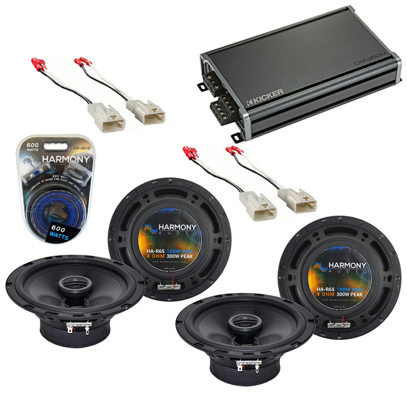 Compatible with Toyota Tundra 2003-2014 Factory Speaker Replacement Harmony (2) R65 & CXA300.4 Amp