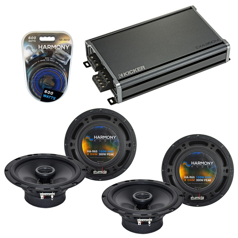Compatible with Volkswagen CC 2009-2014 Factory Speaker Replacement Harmony (2) R65 & CXA300.4 Amp