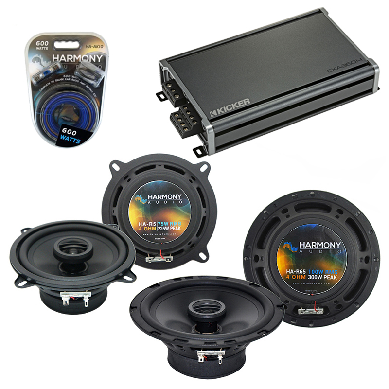 Compatible with Volvo S80 1999-2006 Factory Speaker Replacement Harmony R5 R65 & CXA300.4 Amp
