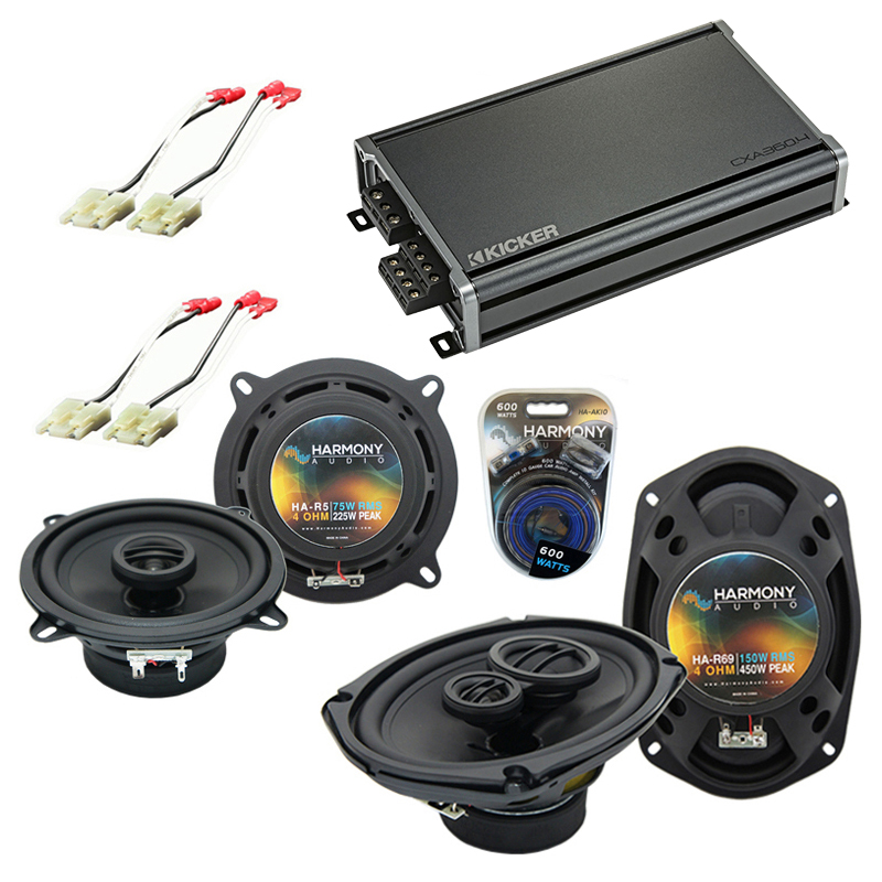Compatible with Cadillac Fleetwood 85-92 OEM Speaker Replacement Harmony R5 R69 & CXA360.4 Amp