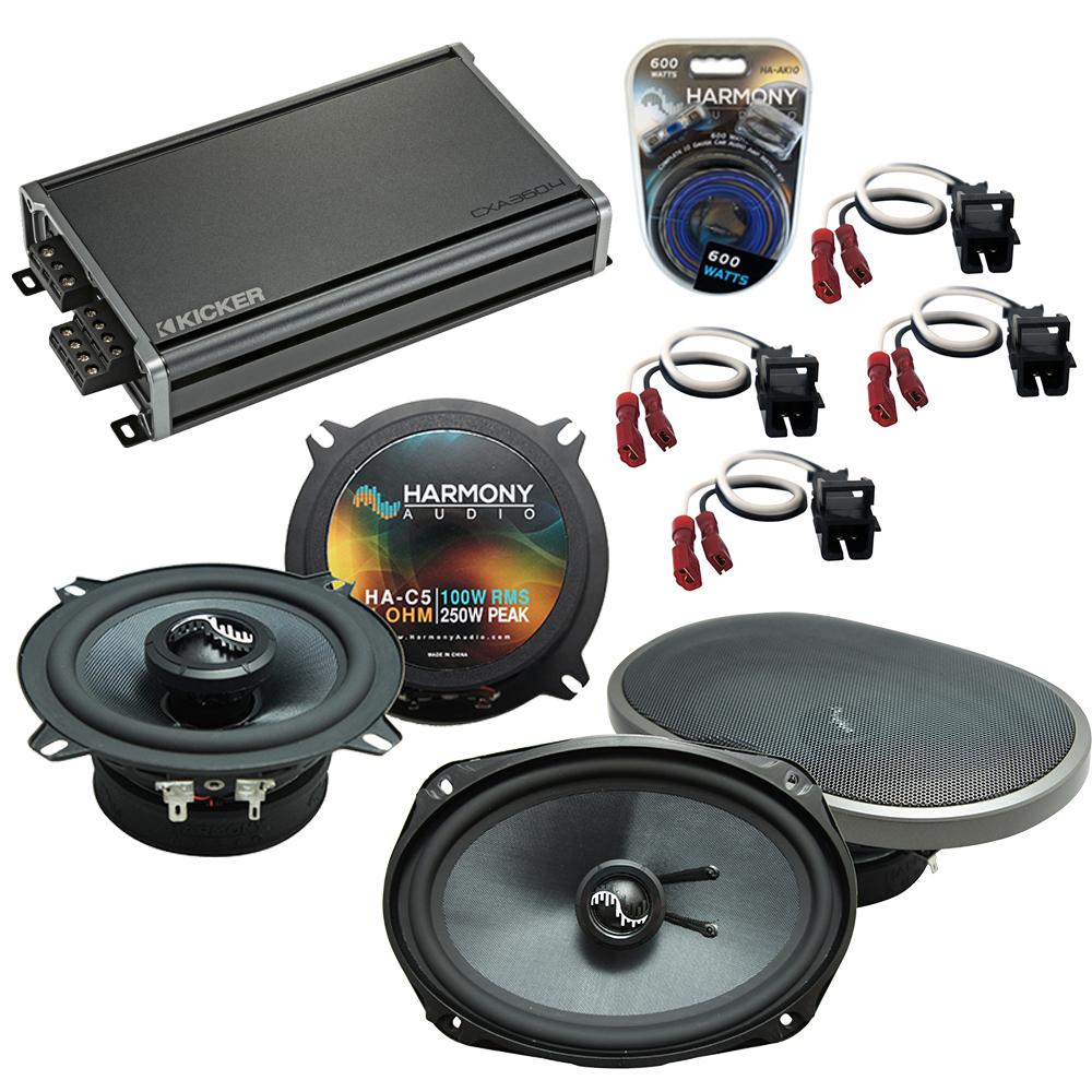 Compatible with Cadillac Seville 1992-1995 Speakers Replacement Harmony C5 C69 & CXA300.4 Amp