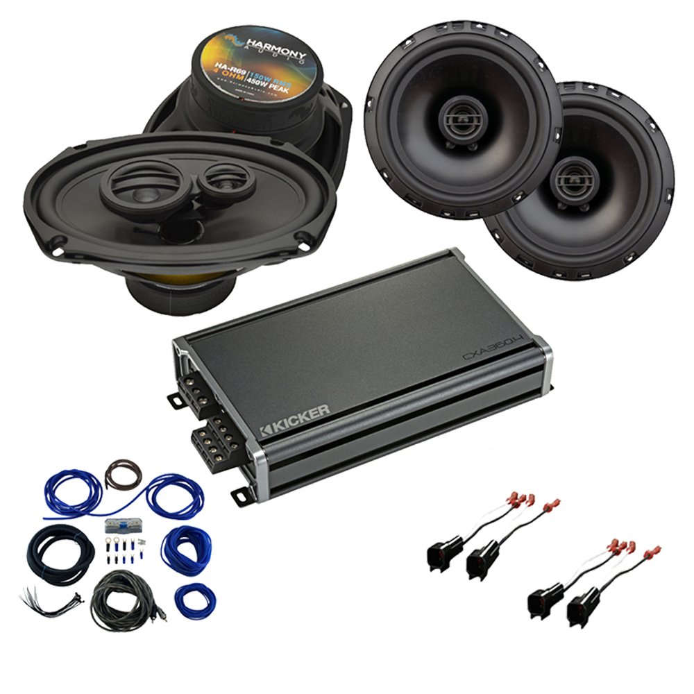 Compatible with GMC Sierra 1500 Crew Cab 2014-2018 Factory Speaker Replacement R69 R65 & CXA360.4