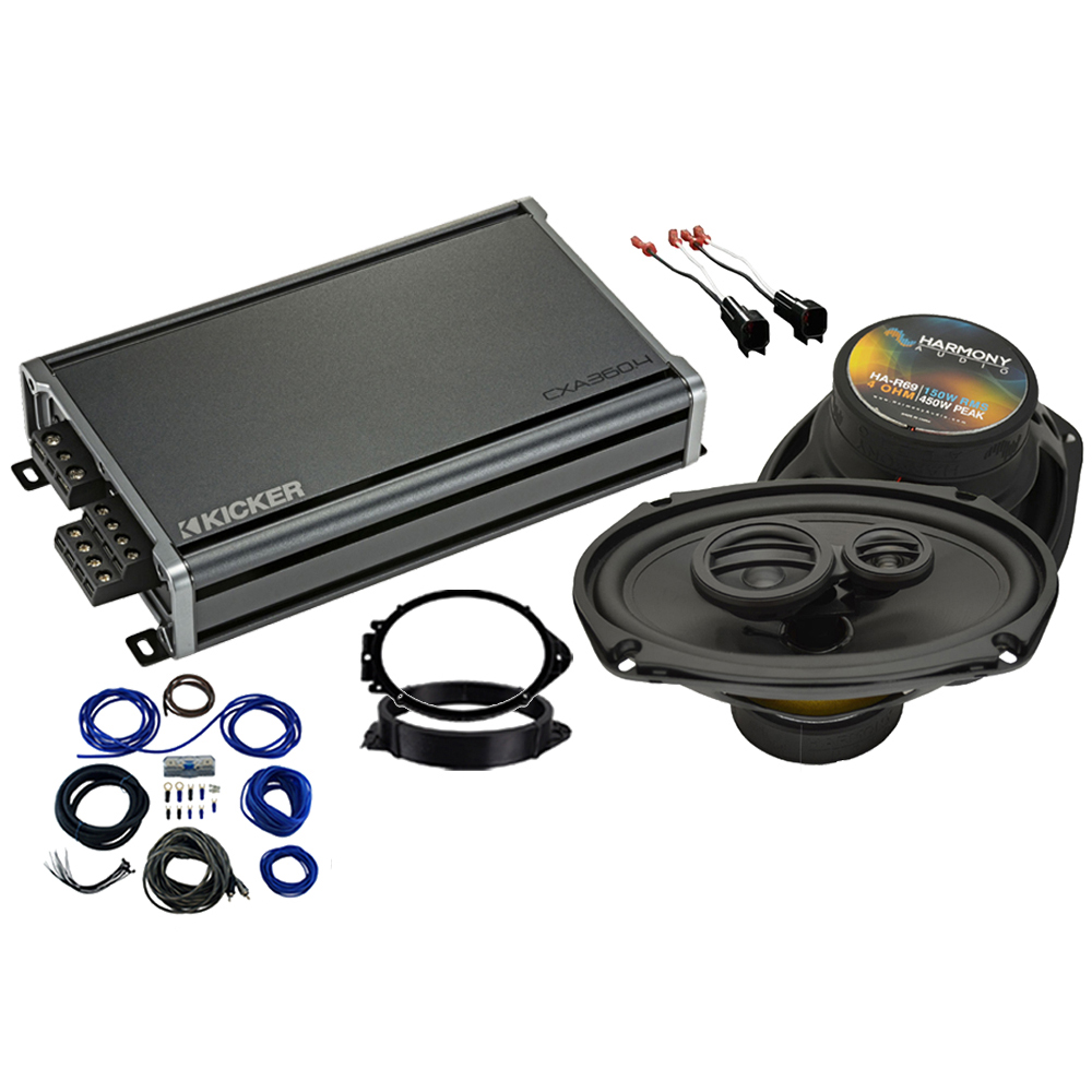 Compatible with GMC Sierra 1500 Regular Cab 2014-2018 Factory Speaker Replacement R69 & CXA360.4