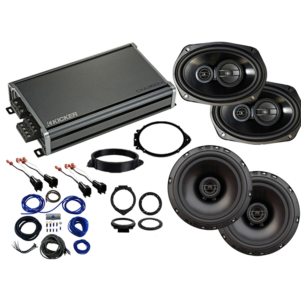Compatible with GMC Sierra 2500HD 3500HD Crew 2015-2019 Factory Speaker Replacement R69 R65 CXA360.4