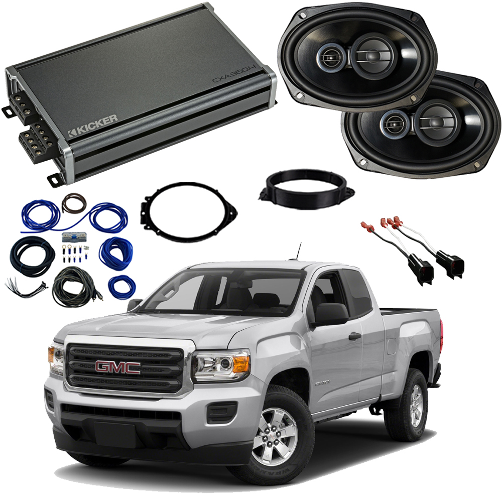 GMC Canyon Ext Cab 2015-2018 Factory Speaker Upgrade