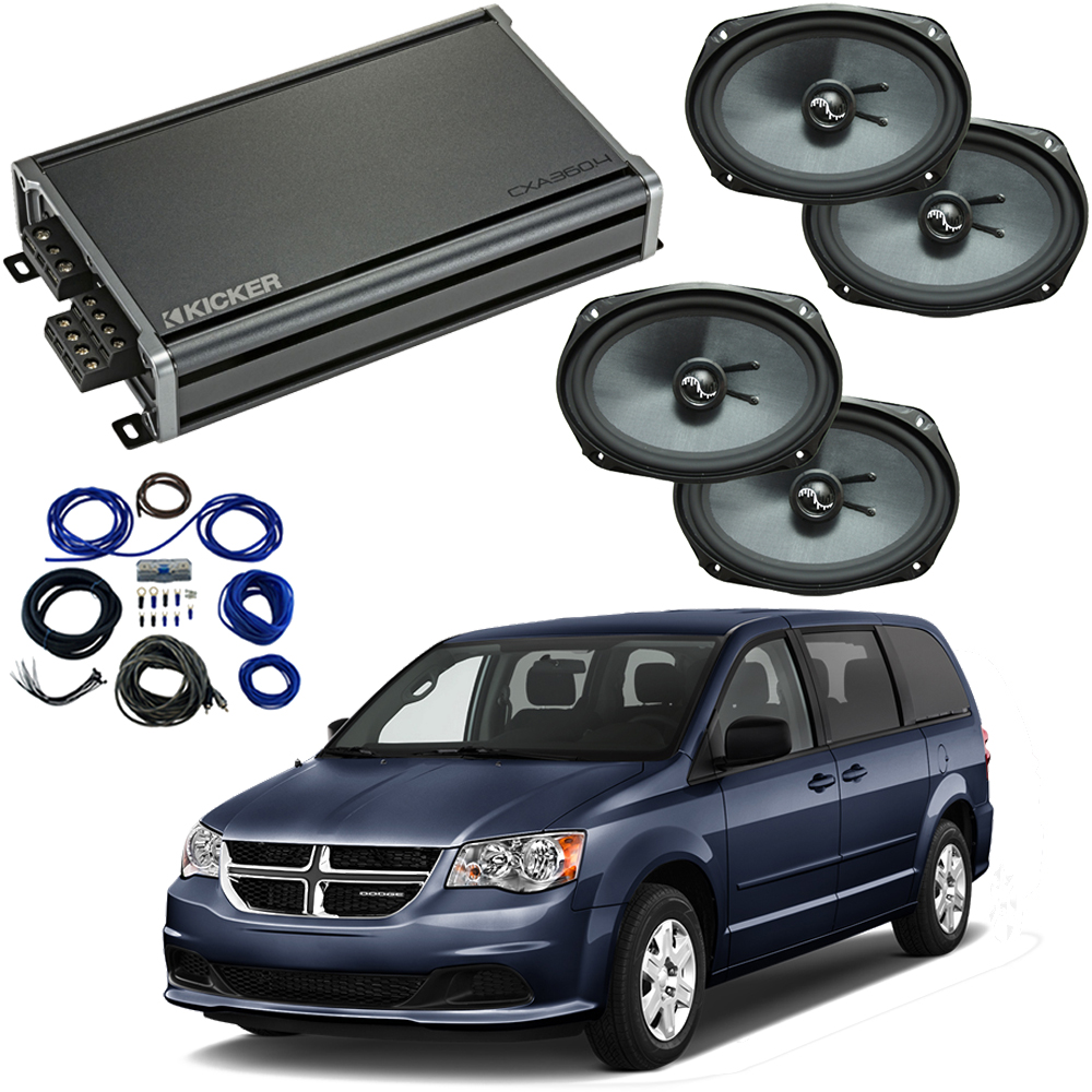 Compatible with Dodge Caravan 2008-2019 Premium Speaker Replacement Package Harmony C69 & CXA360.4