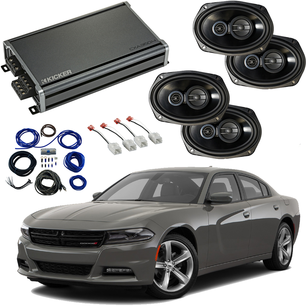 Dodge Charger 2015-2019 Factory Speaker Upgrade Package Harmony R69 & CXA300.4