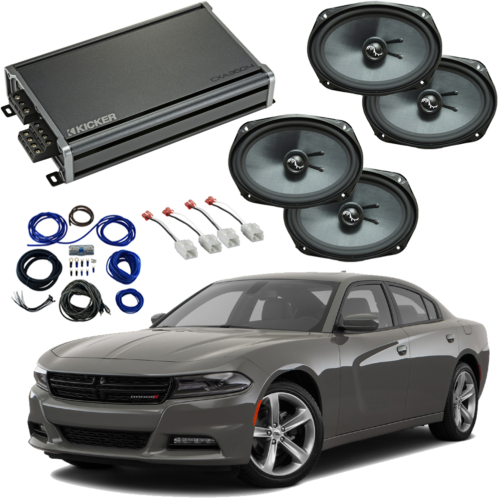 Compatible with Dodge Charger 2015-2019 Premium Speaker Replacement Package Harmony C69 & CXA300.4