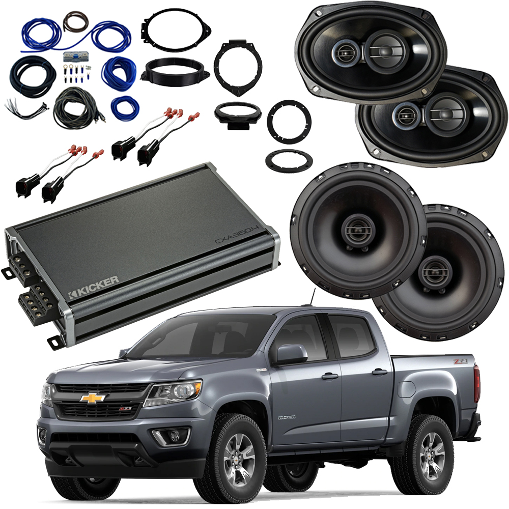Compatible with Chevrolet Colorado 2015-2018 Factory Speaker Replacement Package R65 R69 CXA360.4