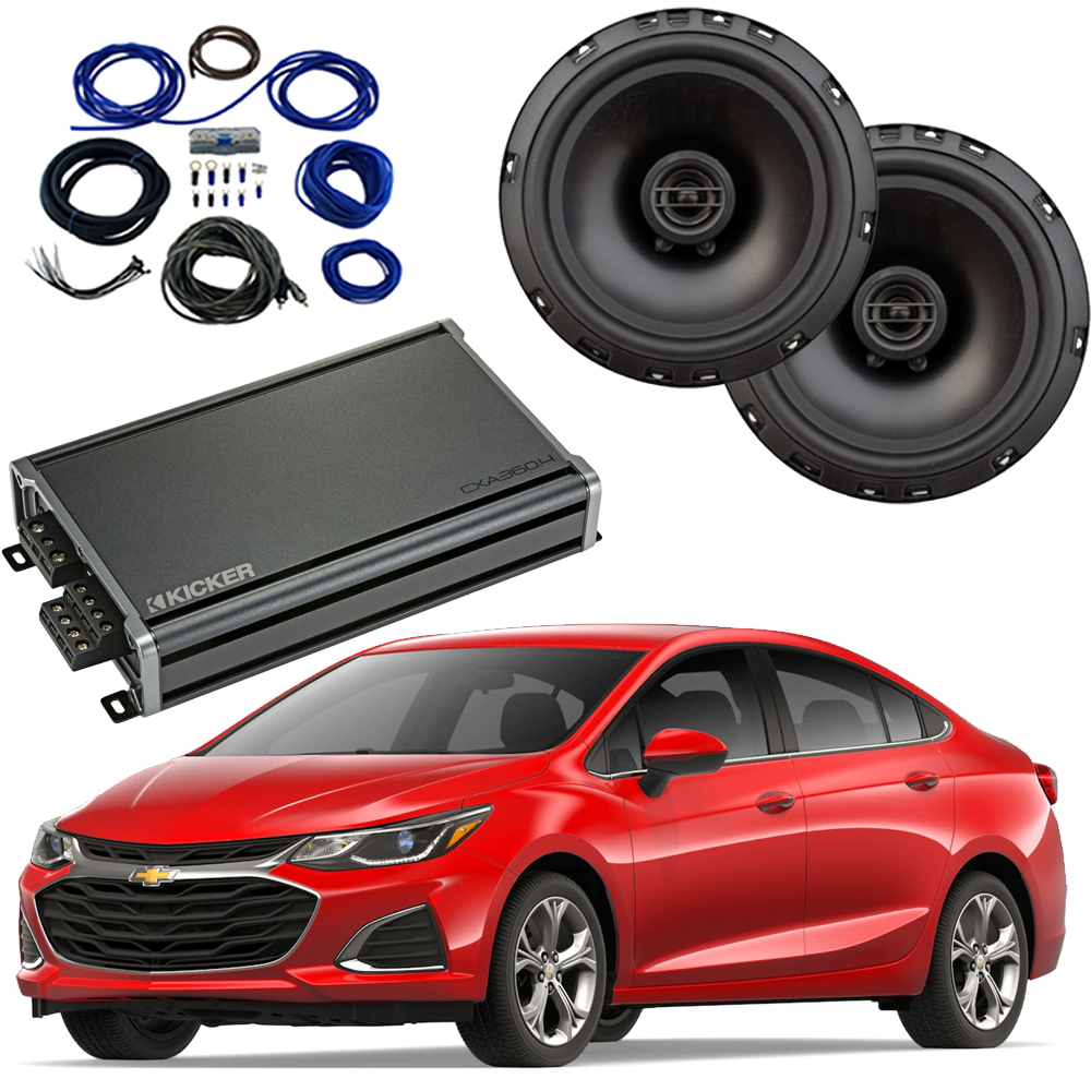 Compatible with Chevrolet Cruze 2016-2018 Factory Speaker Replacement Package Harmony R65 CXA300.4