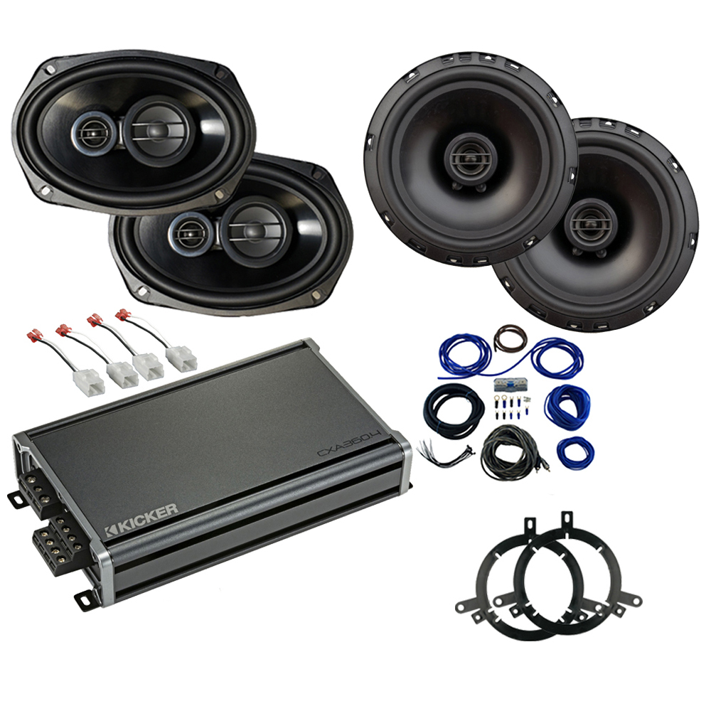 Compatible with Dodge Durango 2014-2019 Factory Speaker Replacement Package Harmony R65 R69 CXA360.4